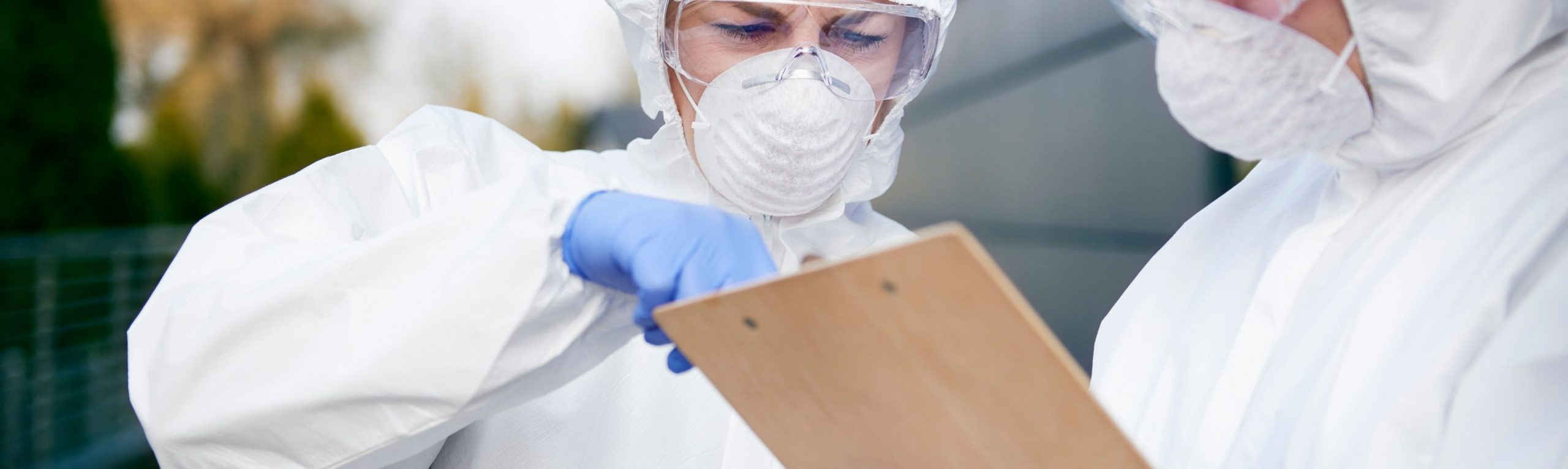 working in protective suits with ecooline cooling textiles